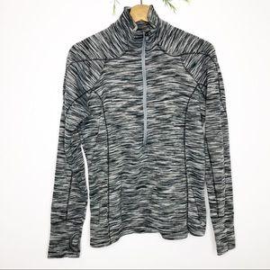 Columbia- Black & Grey Women's Half Zip Pullover